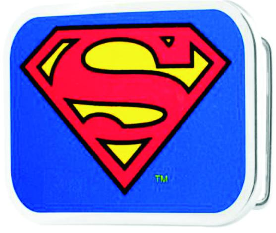 Superman Framed FCG Blue - Chrome Rock Star Buckle