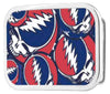 Steal Your Face Stacked FCG Red/White/Blue - Chrome Rock Star Buckle