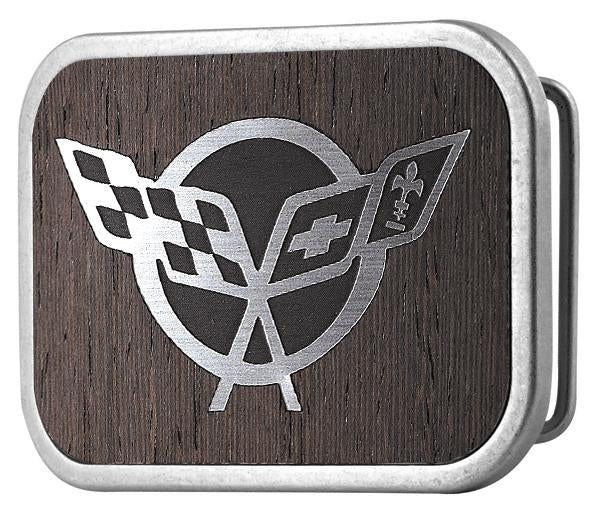 Corvette Framed Marquetry Black Walnut/Metal - Matte Rock Star Buckle