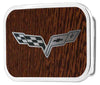 C6 Framed Marquetry Black Walnut/Metal - Matte Rock Star Buckle
