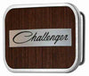 CHALLENGER Script Framed Marquetry Black Walnut/Metal - Matte Rock Star Buckle