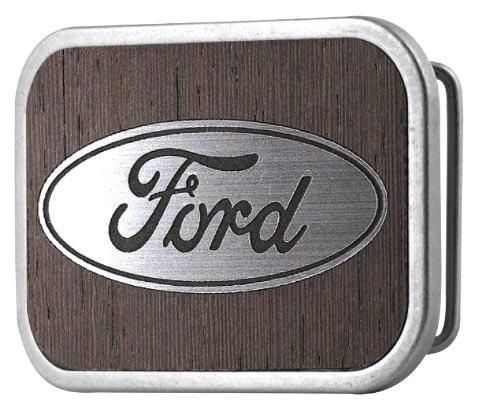 Ford Oval Framed Marquetry Black Walnut/Metal - Matte Rock Star Buckle