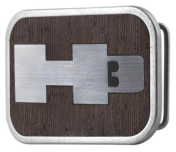 H3 Framed Marquetry Black Walnut/Metal - Matte Rock Star Buckle