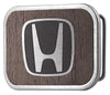 Honda Framed Marquetry Black Walnut/Metal - Matte Rock Star Buckle