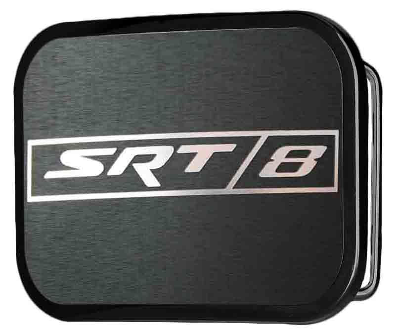 SRT-8 Logo Framed Reverse Brushed - Black Rock Star Buckle