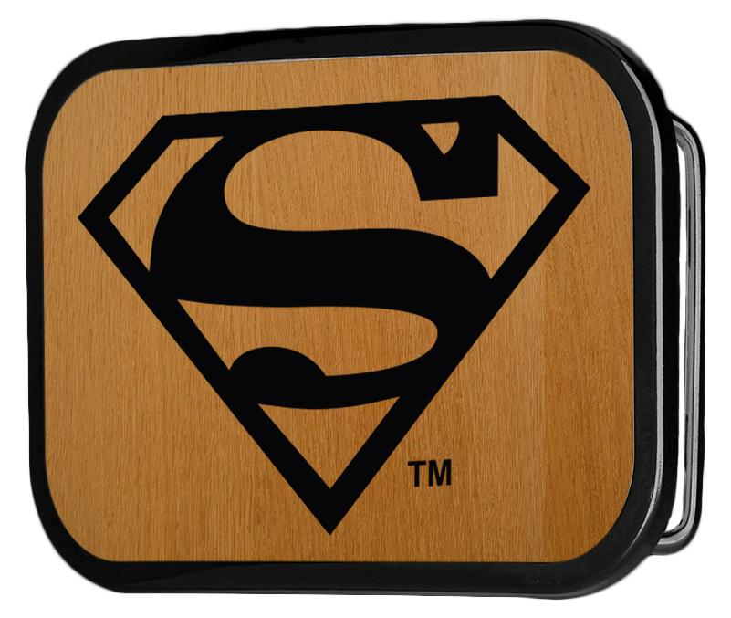 Superman Logo Reversed GW Black - Matte Rock Star Buckle