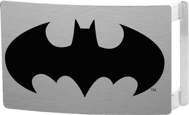 Batman Rock Star Buckle - Brushed Silver/Black