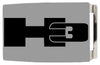 H3 Rock Star Buckle - Brushed Silver/Black