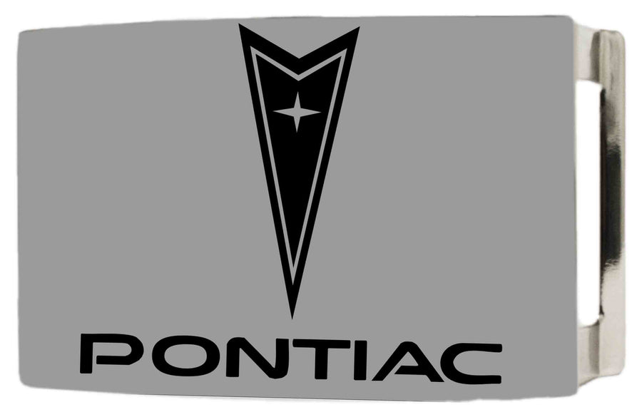 Pontiac Rock Star Buckle - Brushed Silver/Black