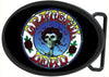 Skull & Roses Circle FCG Black/Color - Black Oval Rock Star Buckle