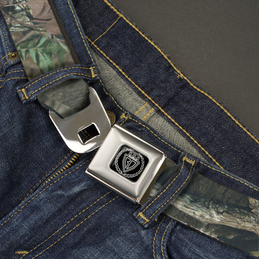 BD Crest Logo Brushed Seatbelt - Mossy Oak Break-Up Infinity Webbing