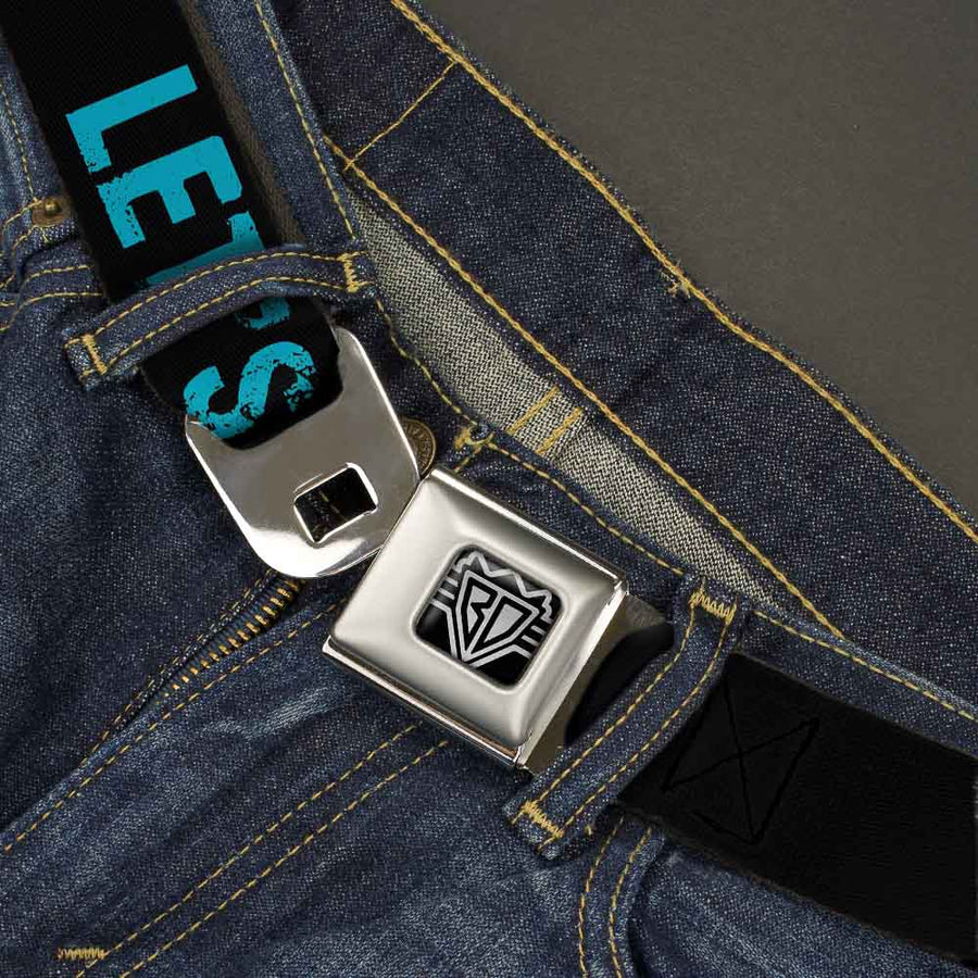 Seatbelt Belt - LET'S GET WEIRD Weathered Black/Bright Blue