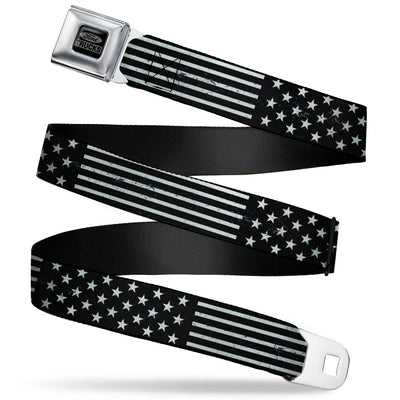 Ford Trucks Seatbelt Belt - Americana Stars & Stripes2 Weathered Black/Gray