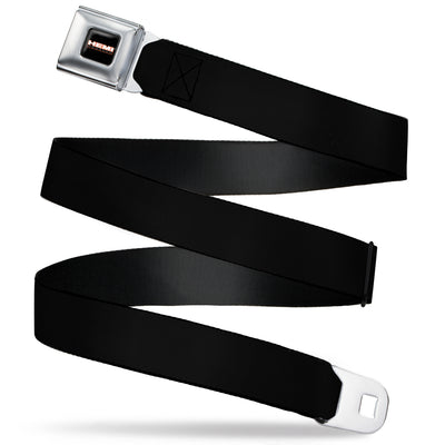 HEMI POWERED Logo Full Color Black/Orange/White/Gray -  Seatbelt Belt - Black Webbing
