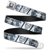 Joker Face Full Color Seatbelt Belt - Joker Spray Painted/Street Pose JOKES ON YOU White/Grays Webbing