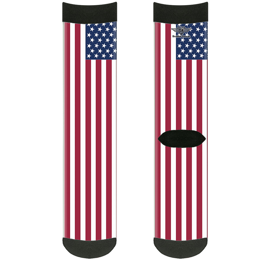 Sock Pair - Polyester - United States Flags - CREW