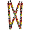 "MARVEL COMICS Suspenders - 1.0"" - Marvel Superhero Comic Blocks"