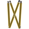 "Suspenders - 1.0"" - Bat Signal-3 Yellow/Black/Yellow"