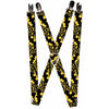 "Suspenders - 1.0"" - Batman Logo Stacked Black/Yellow"