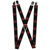 "MARVEL DEADPOOL Suspenders - 1.0"" - Deadpool Logo Black Red White"