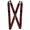"MARVEL DEADPOOL Suspenders - 1.0"" - Deadpool Logo MERC WITH A MOUTH Black Red White"