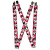 "Suspenders - 1.0"" - Mickey Mouse Expressions Red Black White"
