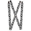 "Suspenders - 1.0"" - Mickey Mouse Expressions Stacked White Black"