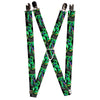 "Suspenders - 1.0"" - Nightmare Before Christmas Oogie Boogie Pose Electric Glow"
