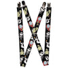 "Suspenders - 1.0"" - Nightmare Before Christmas 4-Mini Character Poses Black Gray"