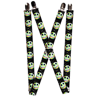 "Suspenders - 1.0"" - Nightmare Before Christmas Jack Expression10 Electric Glow"