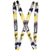 "Suspenders - 1.0"" - Nightmare Before Christmas Jack Poses Watercolor White Yellow Purple"