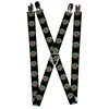 "Suspenders - 1.0"" - Poisoned Apple Black Green Red"