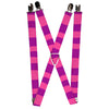 "Suspenders - 1.0"" - Cheshire Cat Stripe Pink Purple"