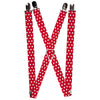 "Suspenders - 1.0"" - Minnie Mouse Polka Dot/Mini Silhouette Red/White"
