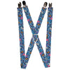 "Suspenders - 1.0"" - Stitch Expressions Hibiscus Flower Ukulele Stacked Blues"