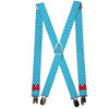 "Suspenders - 1.0"" - Minnie Mouse Bow Dots Blue/Black/White/Red"