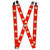 "Suspenders - 1.0"" - Flash Logo Red/White/Yellow Webbing"