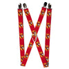 "Suspenders - 1.0"" - The Flash Face Bolts Reds Yellow Gray"