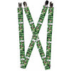 "Suspenders - 1.0"" - Green Lantern Green Glow w Text"