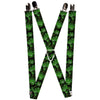 "MARVEL COMICS Suspenders - 1.0"" - The Hulk Stacked"