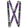 "Suspenders - 1.0"" - Joker Laughing Poses HAHA Purple Green Black White"