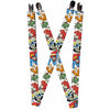 "Suspenders - 1.0"" - Justice League Superheroes CLOSE-UP"