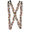 "Suspenders - 1.0"" - Bugs Bunny Expressions Carrots Black"