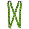 "Suspenders - 1.0"" - MARVIN THE MARTIAN w Poses Expressions Green"