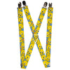 "Suspenders - 1.0"" - Tweety Bird Poses Baby Blue"