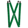 "Suspenders - 1.0"" - Question Mark Scattered Lime Green Black"