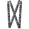 "Suspenders - 1.0"" - Superman Shield Splatter Black White"