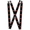 "Suspenders - 1.0"" - Superman Shield Black"