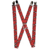 "MARVEL COMICS Suspenders - 1.0"" - Spider-Man Stacked"