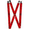 "MARVEL COMICS Suspenders - 1.0"" - Spiderweb Red Black"